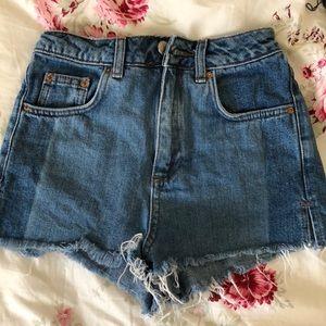 Blue denim jean shorts